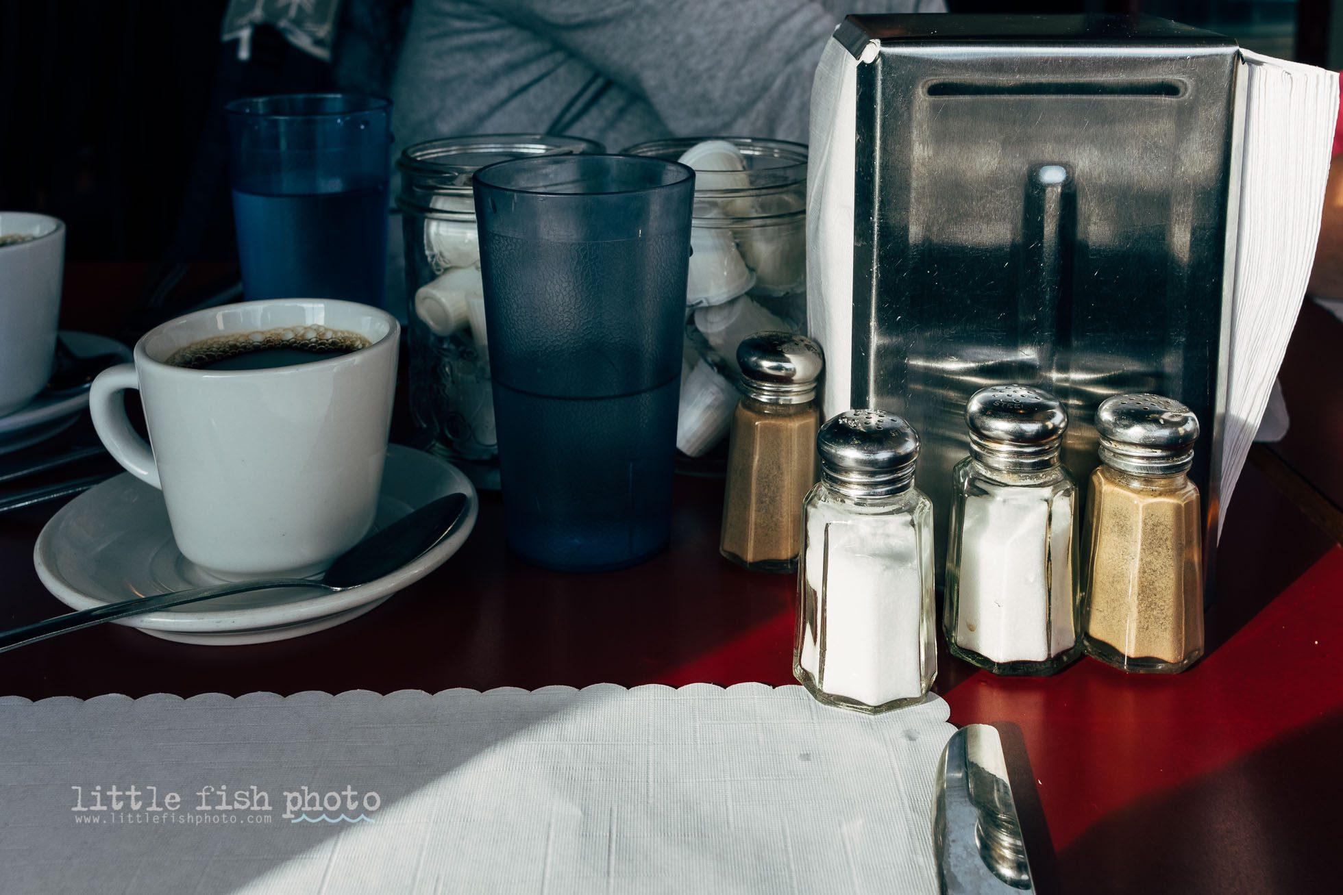 table top scene at brunch