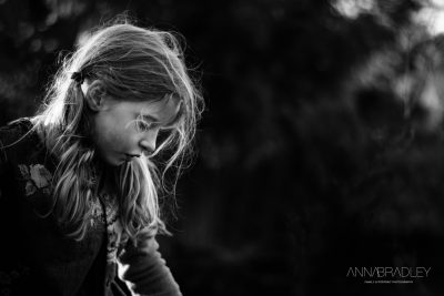 Portrait of my daughter black and white photograph by Anna Bradley Amersham Buckinghamshire