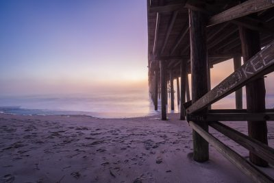 Sunrise and pier on Amelia Island by Susan Bahen