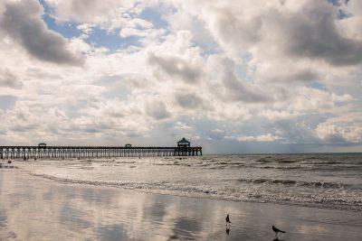 folly beach pier landscape photograph