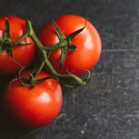 photo of three tomatoes