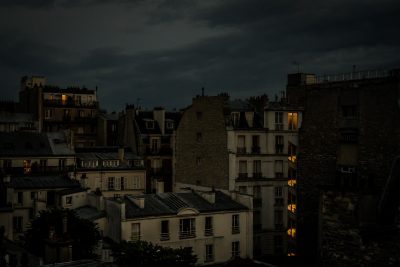 Night time view over the rooftops of Paris - Merja Varkemaa Photography