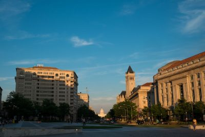 washington d.c. capitol building at sunset