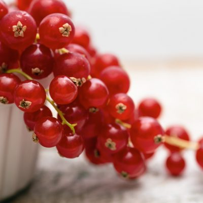 Red Currants in beautiful light by Iris Nelson