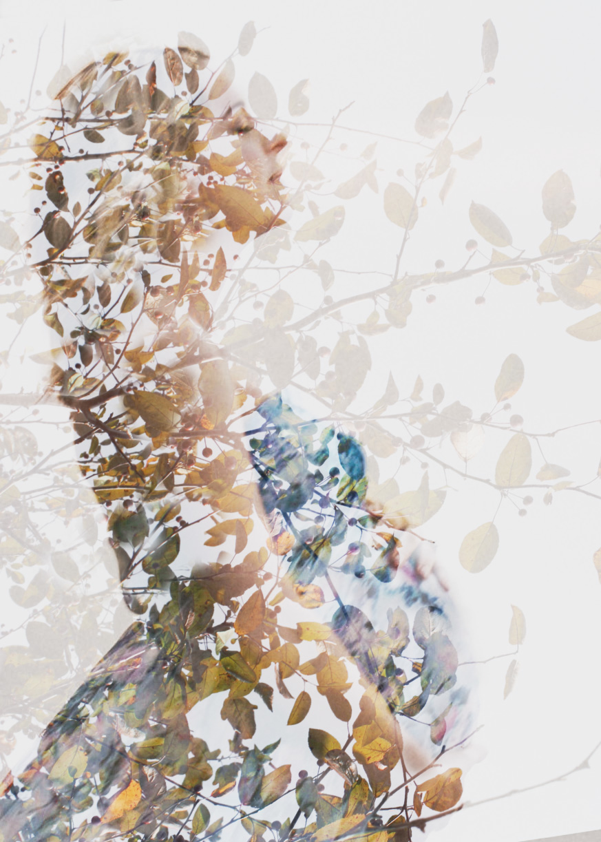 Double exposure of maternity portrait by Cleveland maternity photographer Chelsey Hill Photography