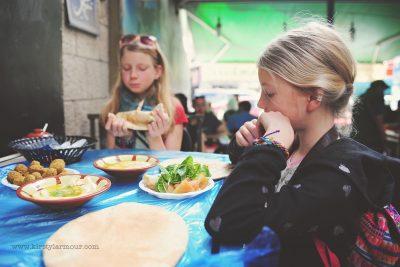 Street Food, Felafel and Hummus at Hashems in Amman Jordan