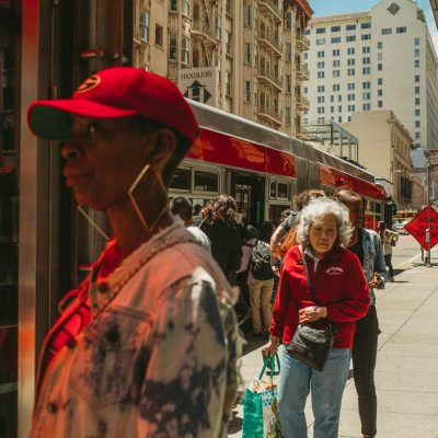 Red in the street of San Francisco