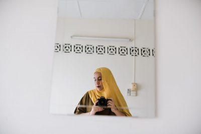 self potrait hijab