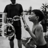 family photography, children photography, bubbles