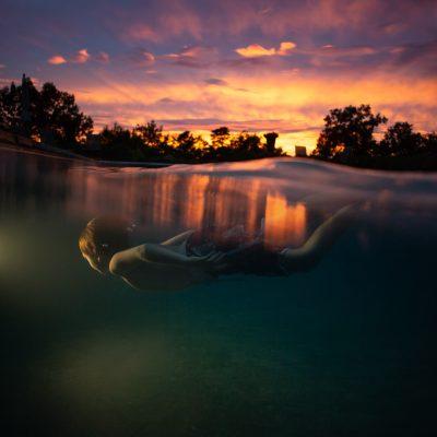 tessie+wallace+underwater+photo+sunset+reflection+boy