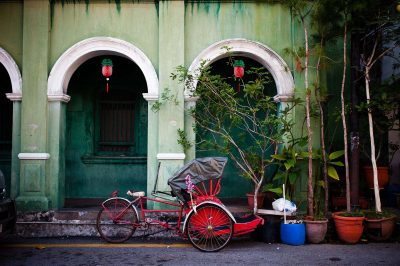 A trishaw in penang, malaysia street photography