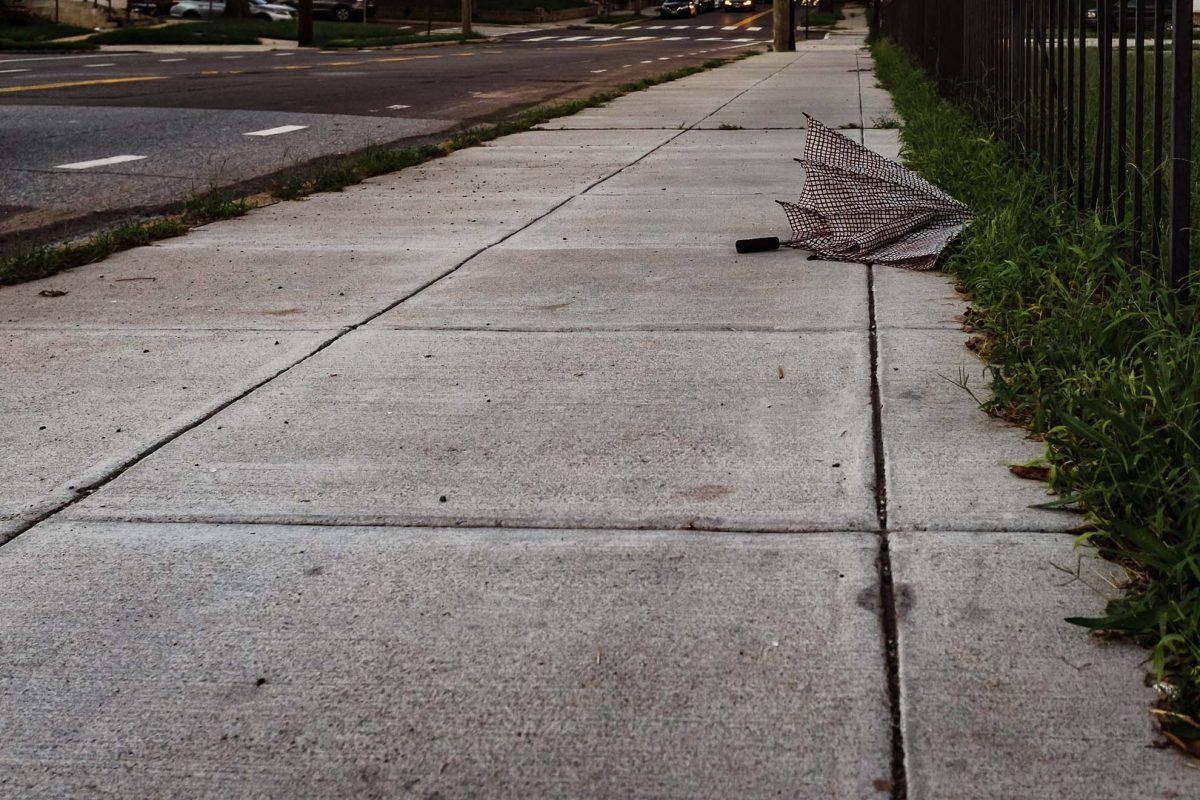Lost umbrella street photo