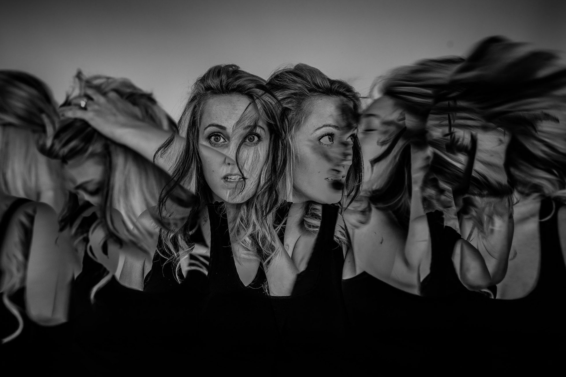 Chaos in black and white a self portrait