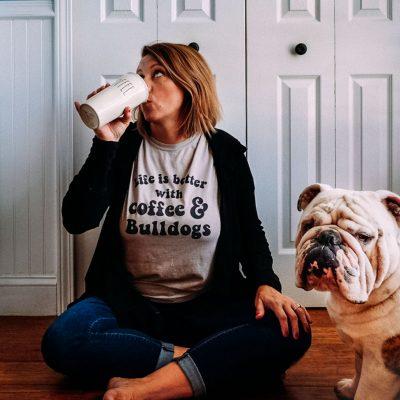 coffee bulldogs self portrait