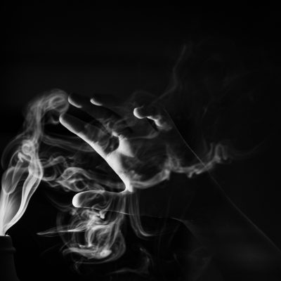 incense_smoke_flashlight_black_and_white | turbulent flow_click-Pro_daily_project_by Eileen Critchley