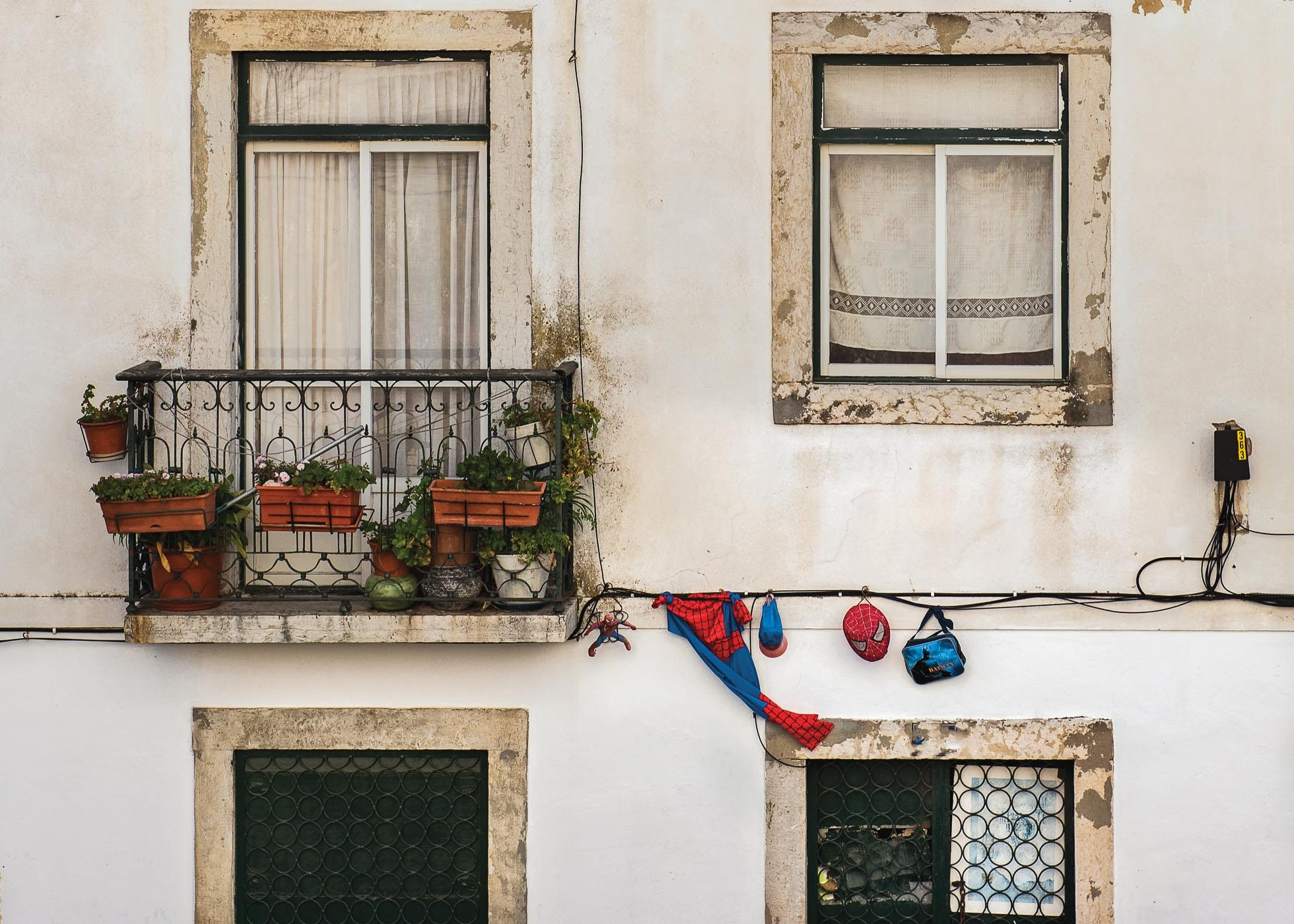 laundry drying in lisbon