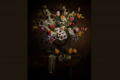 Dutch Master Inspired Still Life image of Flowers