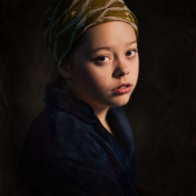 Canon color portrait of Johannes Vermeer a girl without the pearl earring by Willie Kers