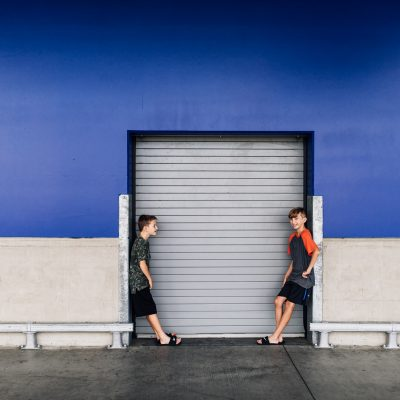 Two brothers sharing a joke at Ikea lifestyle photographer