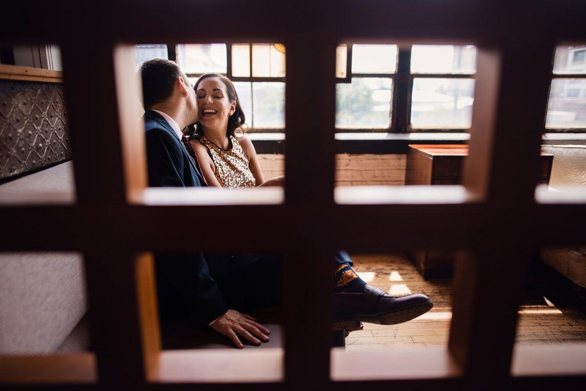 Framed and engagement kisses by Thao Lai