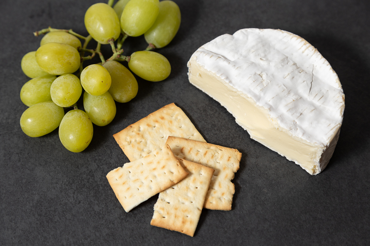 Feasting on Camembert, Grapes, and Crackers