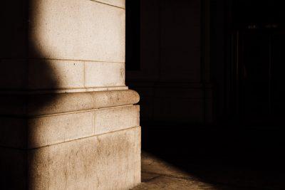 pillar sun and shadow