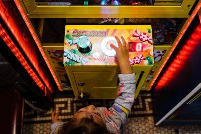toddler girl video game yellow