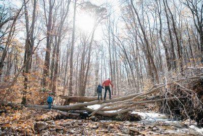 Adventurers, Hiking outside, Linn Run Pennsylvania, Get outside, Crossing Streams