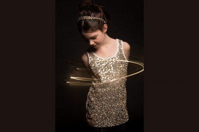 Girl in sequin shirt-ANacortes Washington