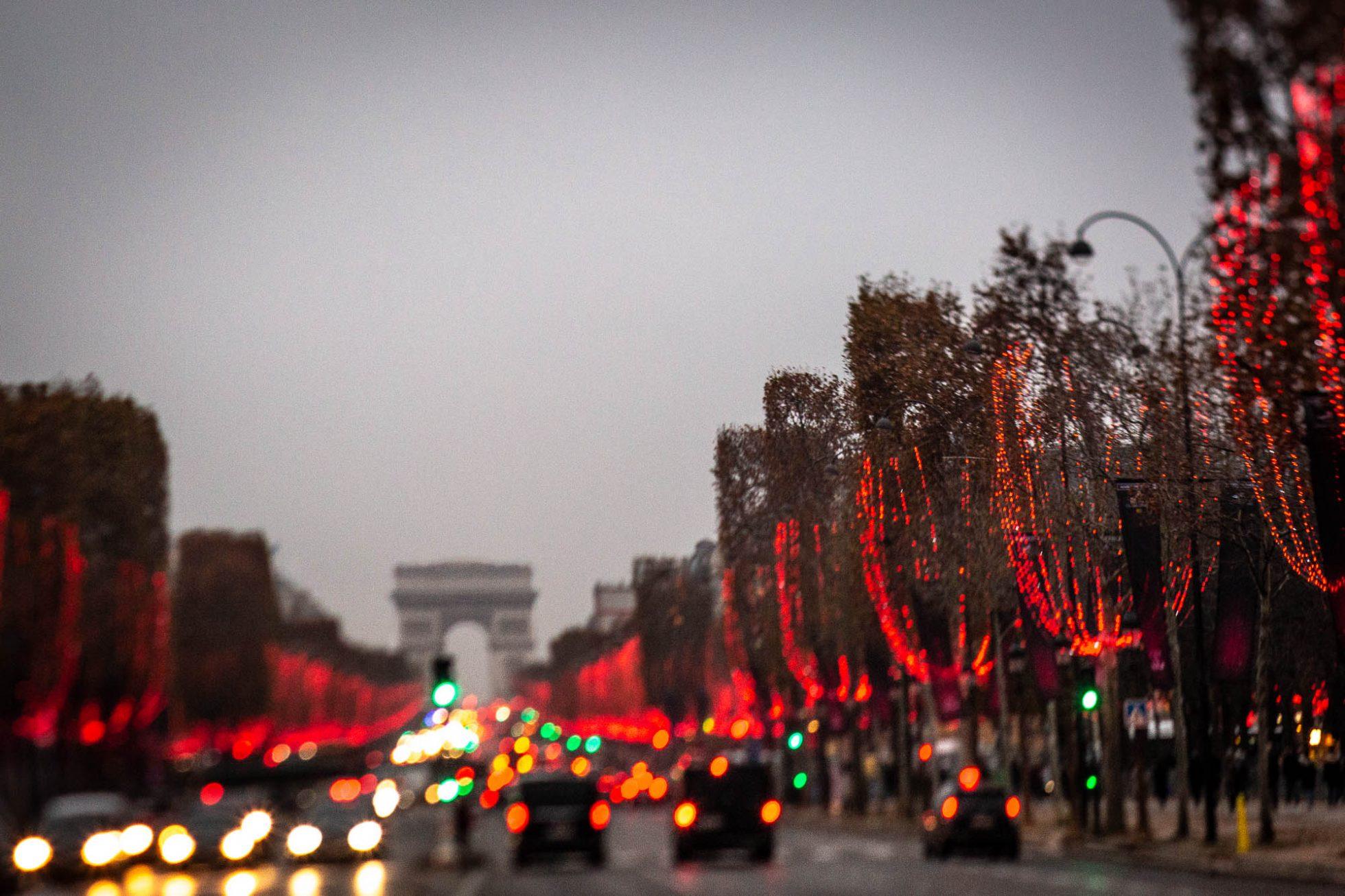 Paris holiday lights - Champs Elysées - Merja Varkemaa Photography