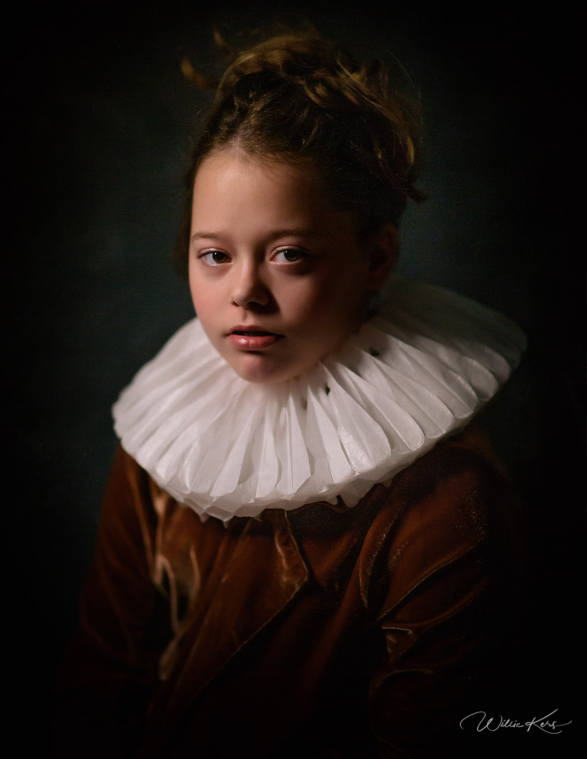 Canon 5d mark III fine art Rembrandt portrait of a young girl by Willie Kers
