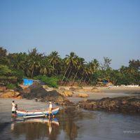 A beach in South Goa, India, by Kirsty Larmour