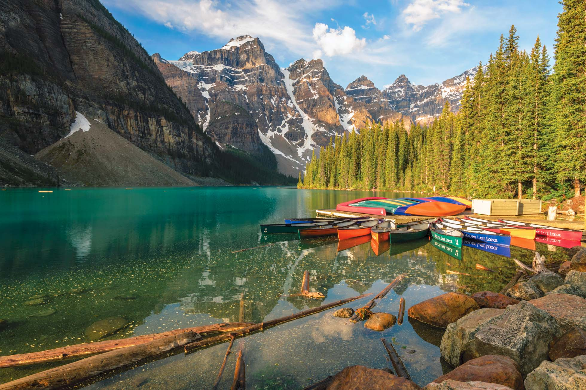Moraine Lake Canoes By Kristen Ryan
