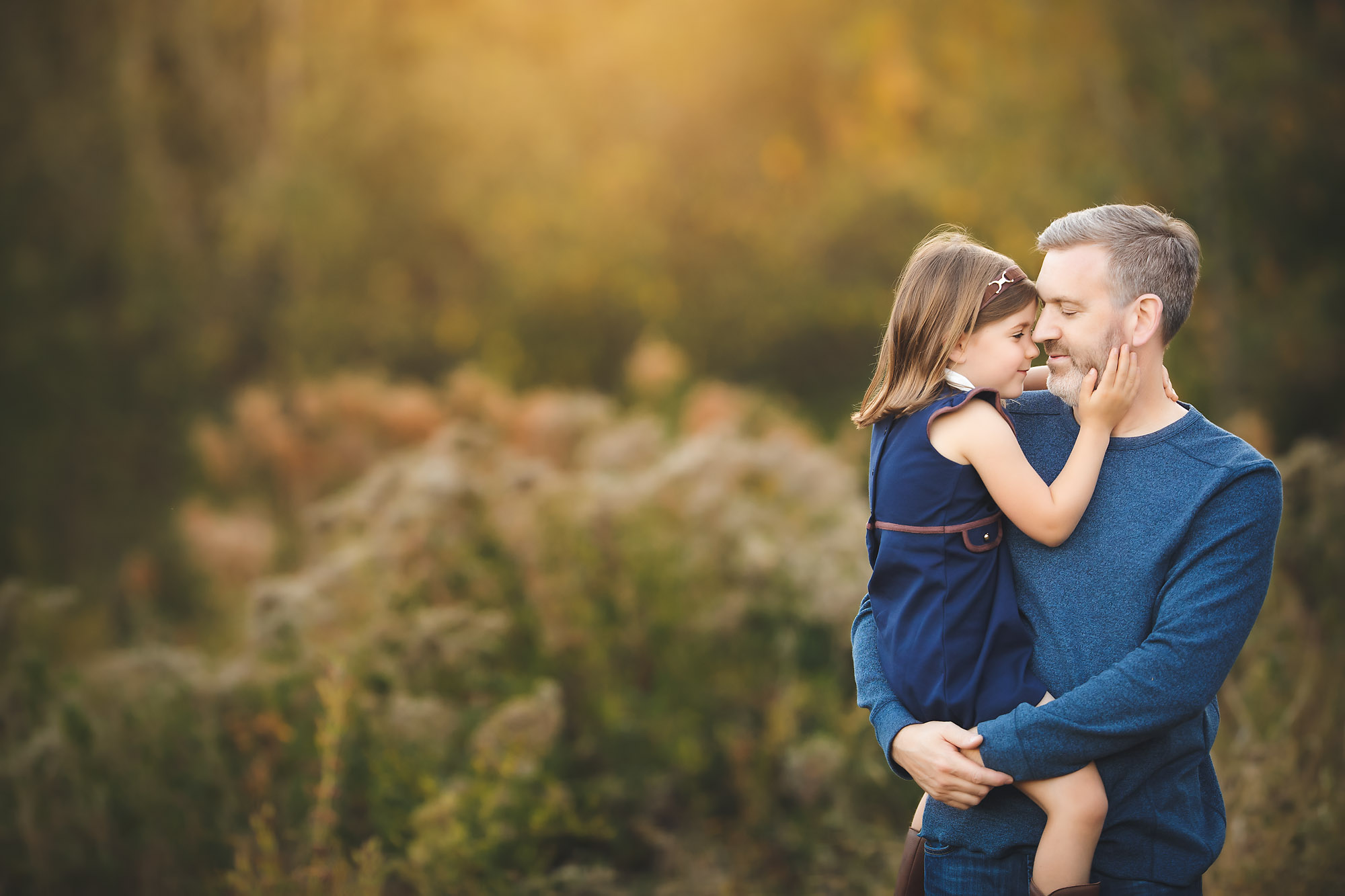 Father daughter portrait from photography session with Rebecca Danzenbaker in Northern Virginia