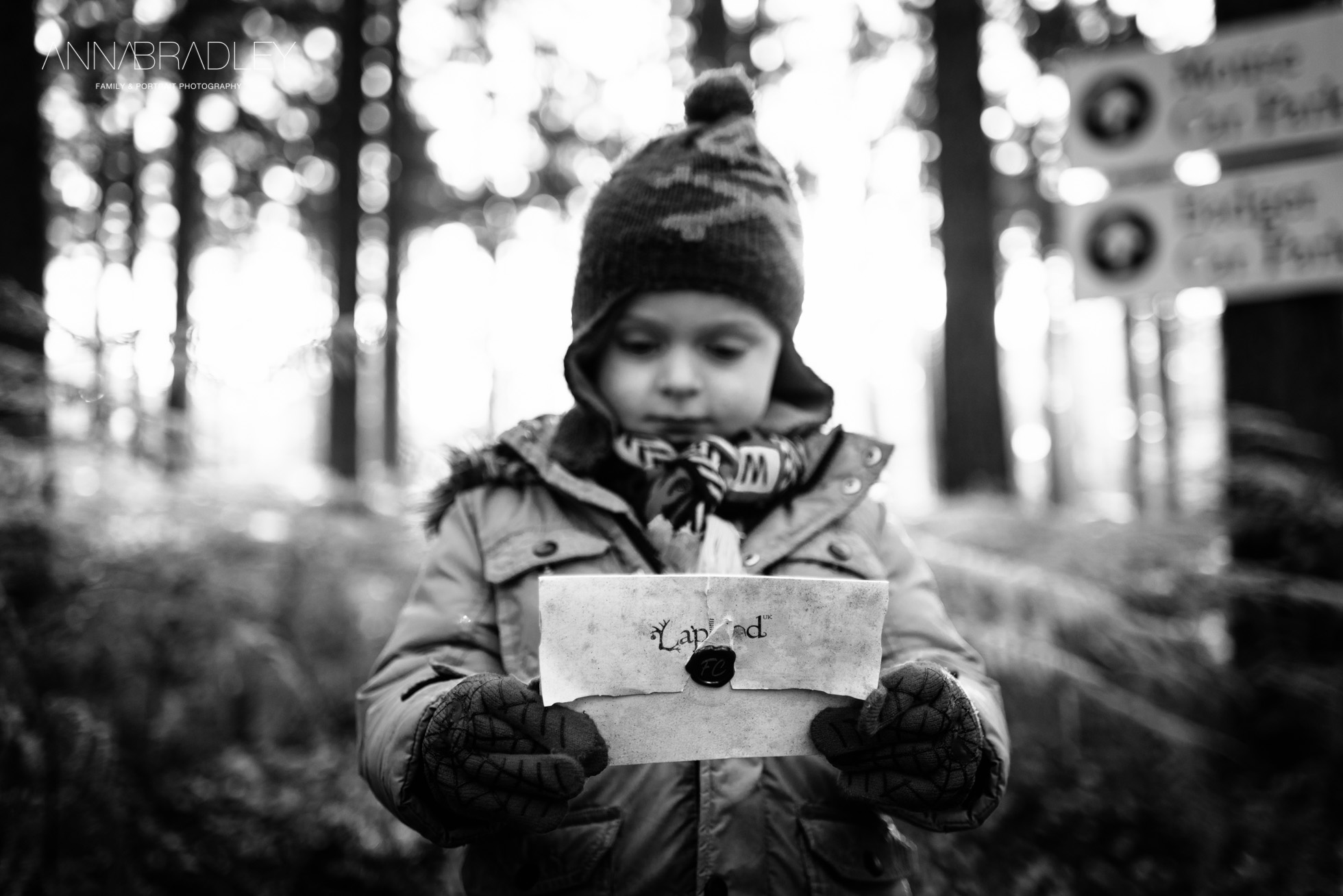 Letter from Santa black and white photograph by Anna Bradley